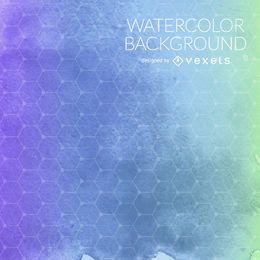Purpurrote blaue Aquarellhintergrundmasche