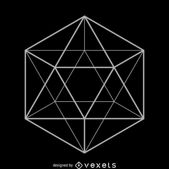 Diseño de la geometría sagrada icosaedro