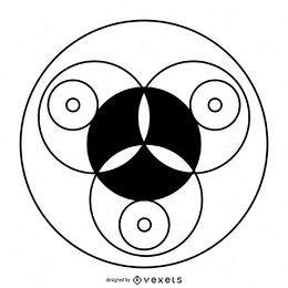 Desenho de vetor de círculo de culturas