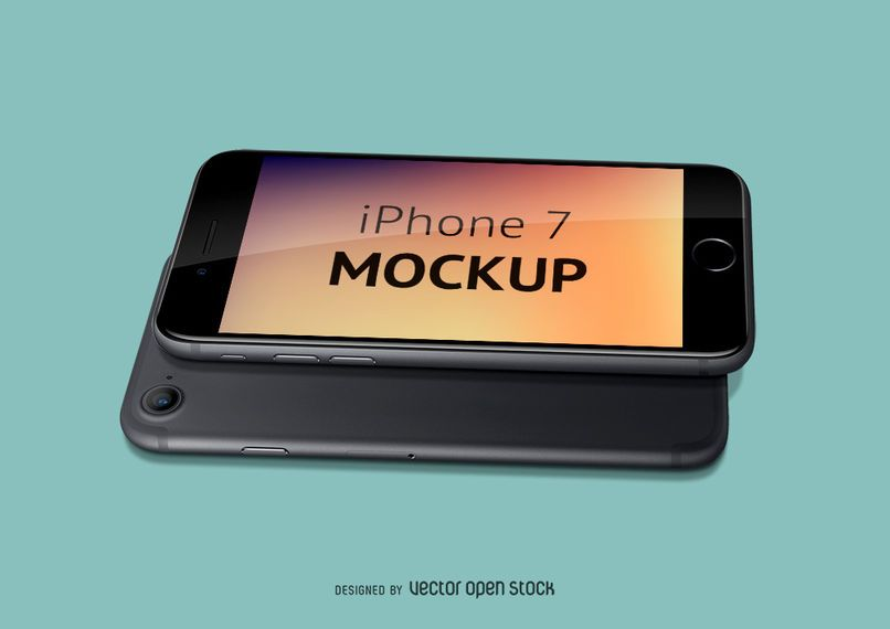Iphone 7 mockup PSD