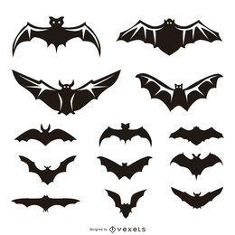 13 ilustrações e silhuetas de morcegos