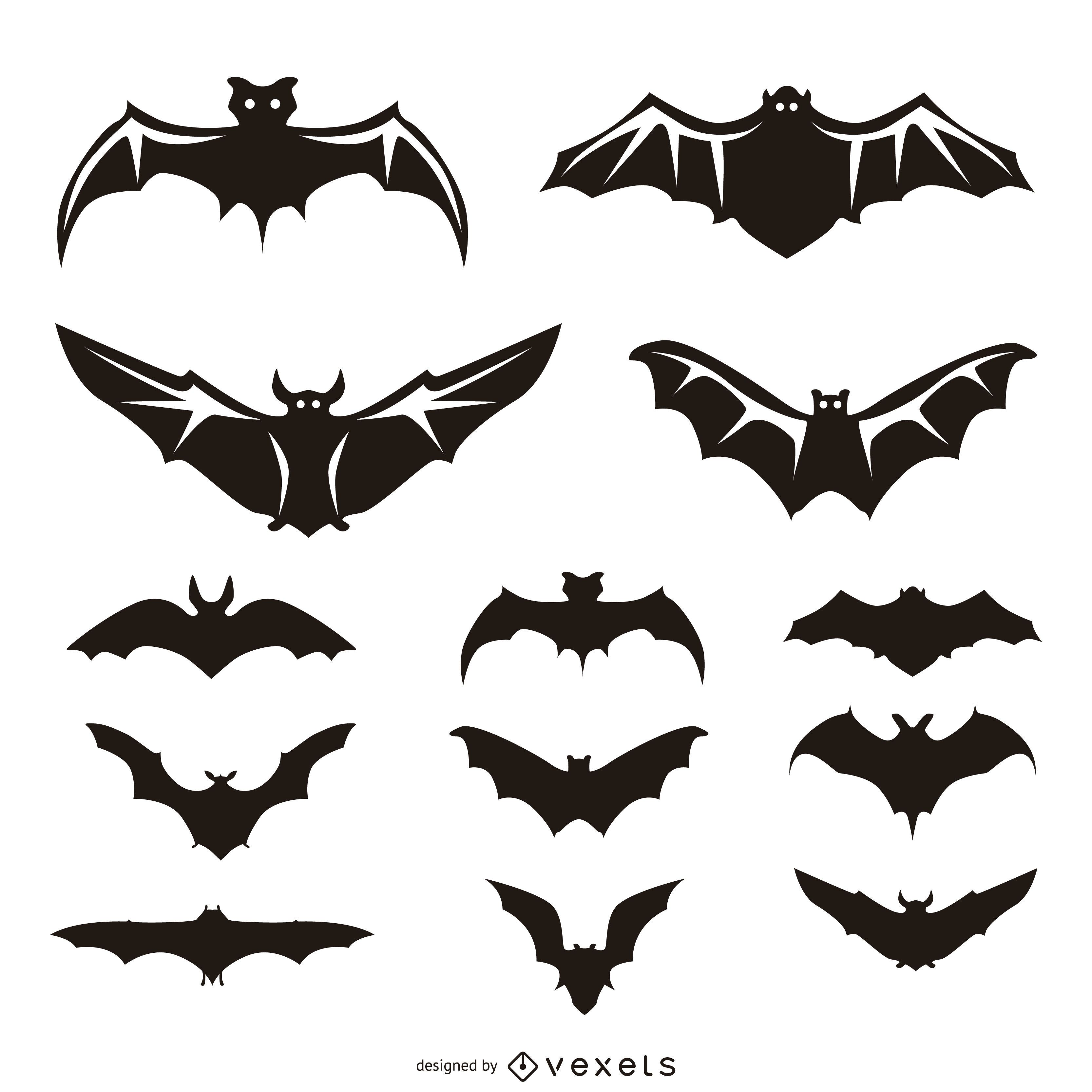 13 ilustraciones y siluetas de murciélago