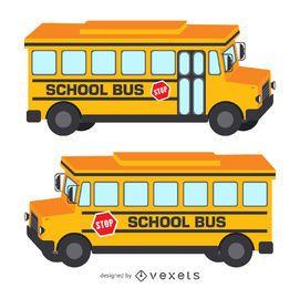 Ilustración aislada del autobús escolar 3D