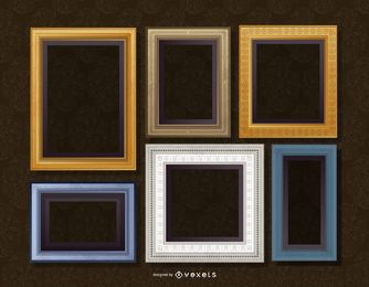 Conjunto de quadros de parede realista