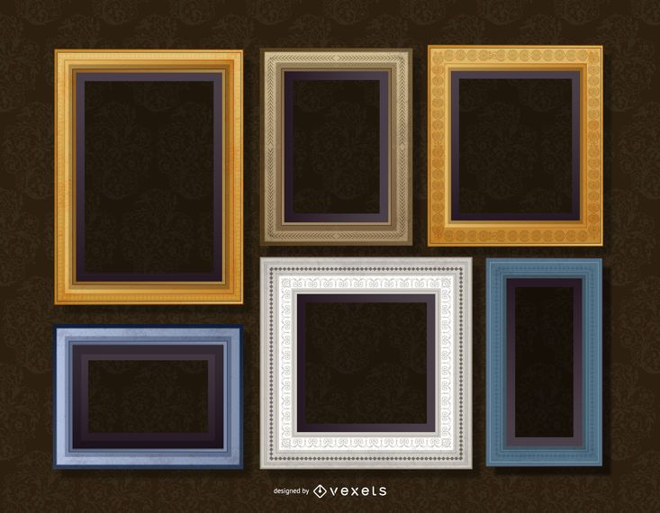 Realistic wall frame set - Vector download
