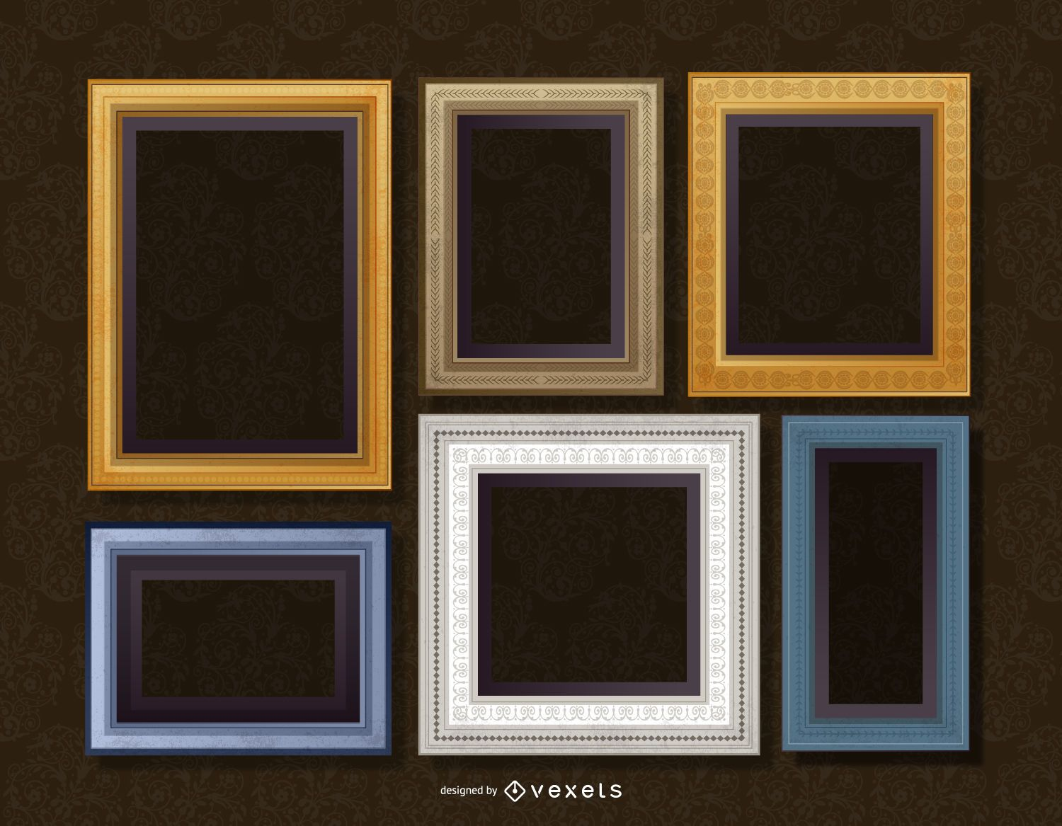 Realistic Wall Frame Set Vector Download
