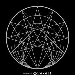 Círculo complejo de geometría sagrada.