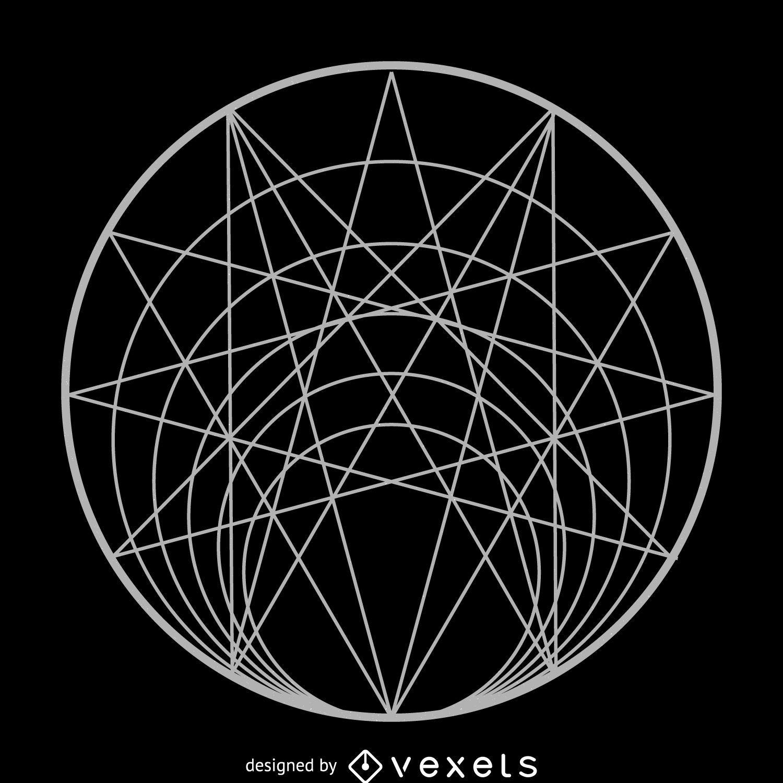 Геометрические бесшовный фон  Векторное изображение