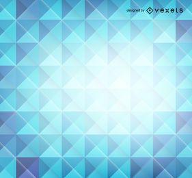 Fundo azul de polígonos 3d