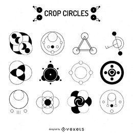 Colección de diseño de círculos de cosecha.