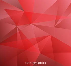 fondo rojo de baja poli