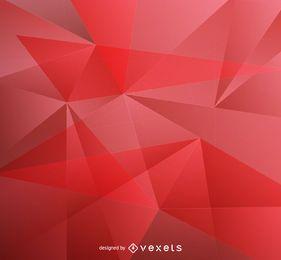 Roter niedriger Polyhintergrund