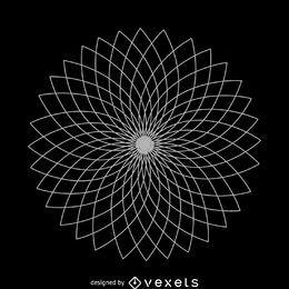 Flor de loto geométrica