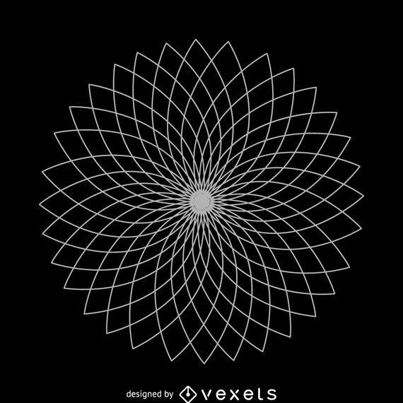 Geometrical Lotus Flower