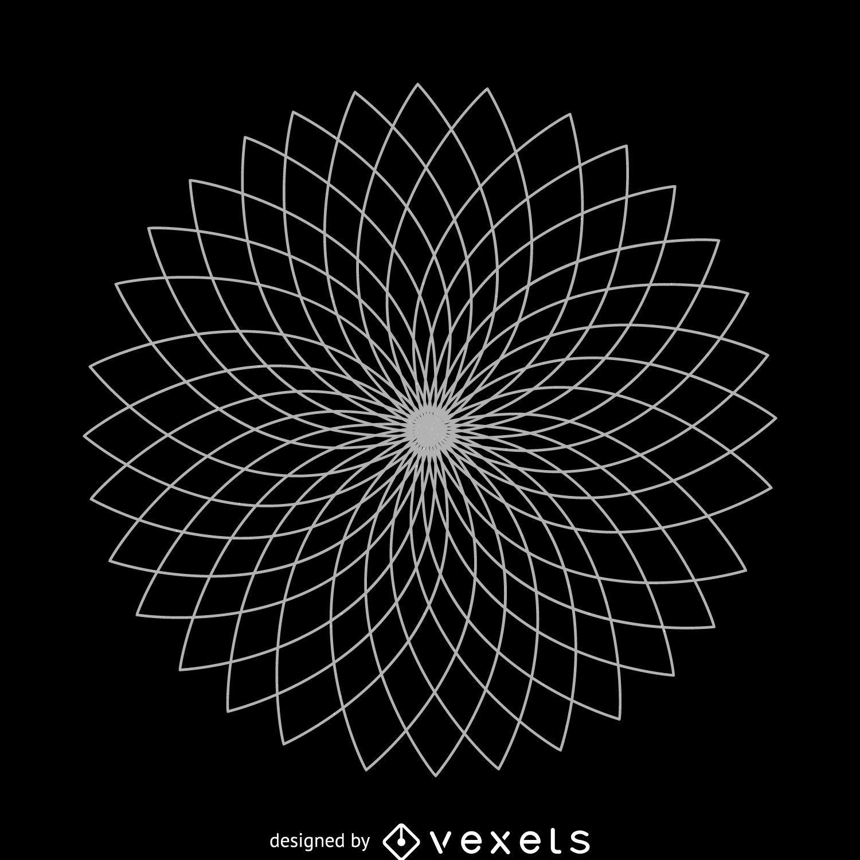 Flor de Lótus Geométrica