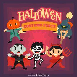 Divertido design de festa de Halloween