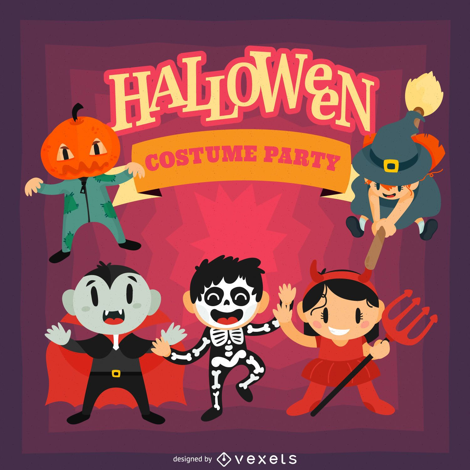 Fun Halloween party design - Vector download