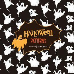 Patrón de silueta de fantasma de Halloween