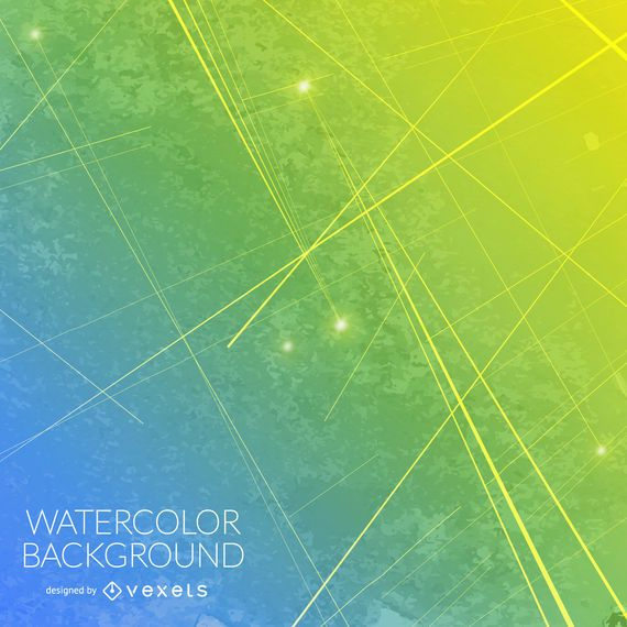 Gradient blue yellow watercolor background