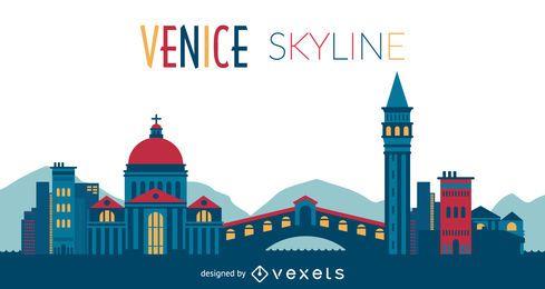 Silhueta do horizonte de Veneza