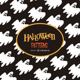 Halloween ghost illustration pattern