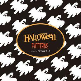 Padrão de ilustração de fantasma de Halloween