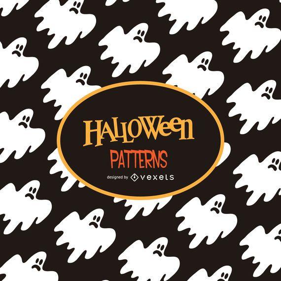 Halloween ghost illustration pattern