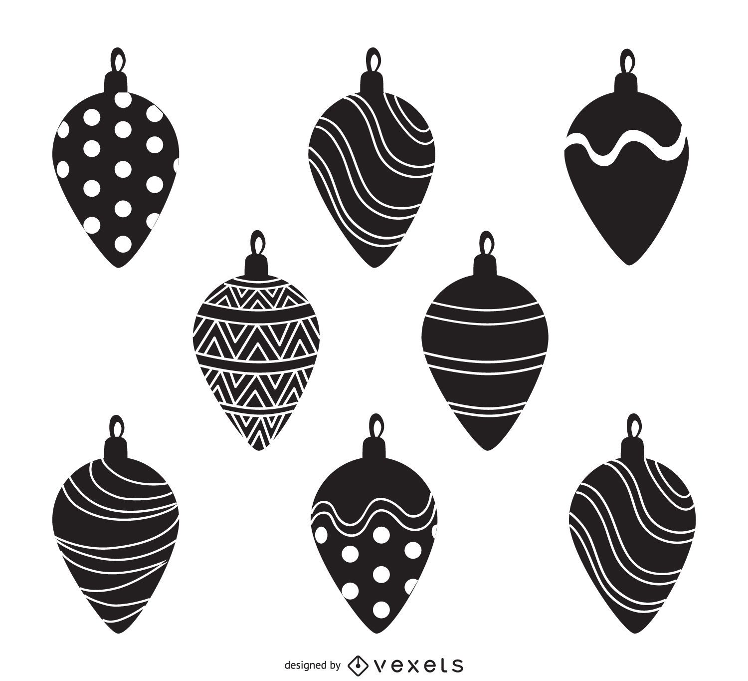 Christmas decoration silhouettes collection - Vector download