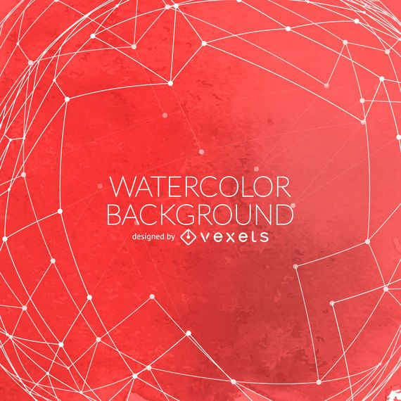 Red watercolor background with mesh