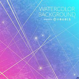 Gradiente de color azul de fondo de color rosa de la acuarela