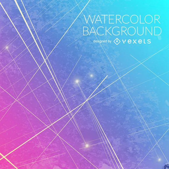 Gradient blue pink watercolor background