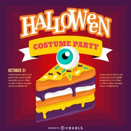 Halloween party invitation design