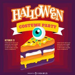 Halloween-Partyeinladungsdesign