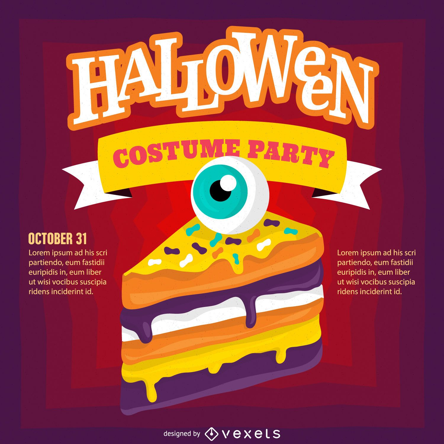 halloween party poster vector download