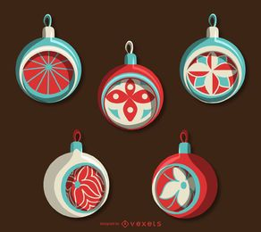 Classic Christmas ornament set