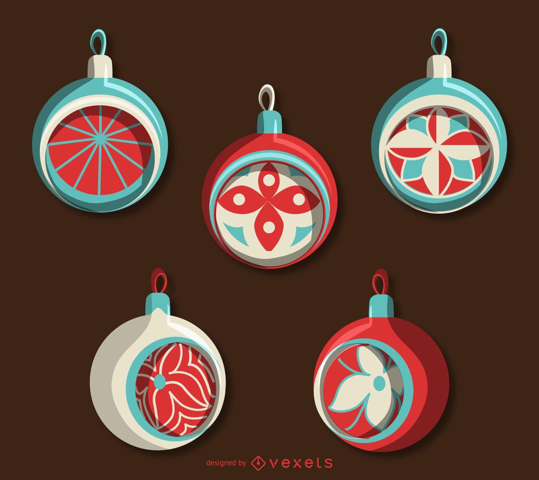 Classic Christmas ornament set