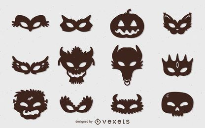 Halloween monster mask set