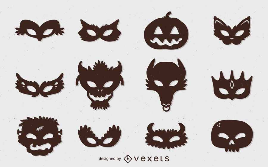 Halloween monster mask set