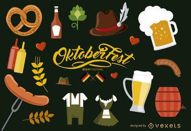 Conjunto de elementos de Oktoberfest Alemanha
