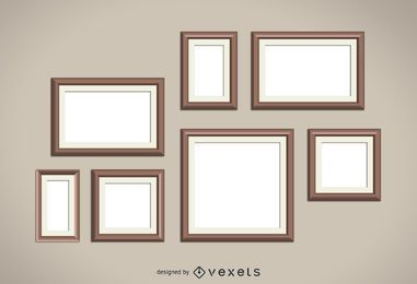 Wood frames set