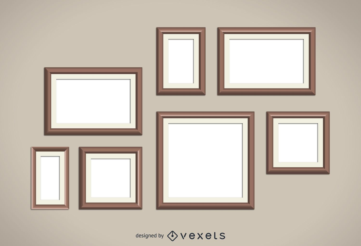 Wood frames set - Vector download