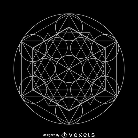 Circle elements sacred geometry design
