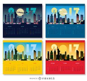 Design do calendário de Nova York 2017