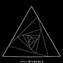 Triângulos equiláteros em espiral geometria sagrada