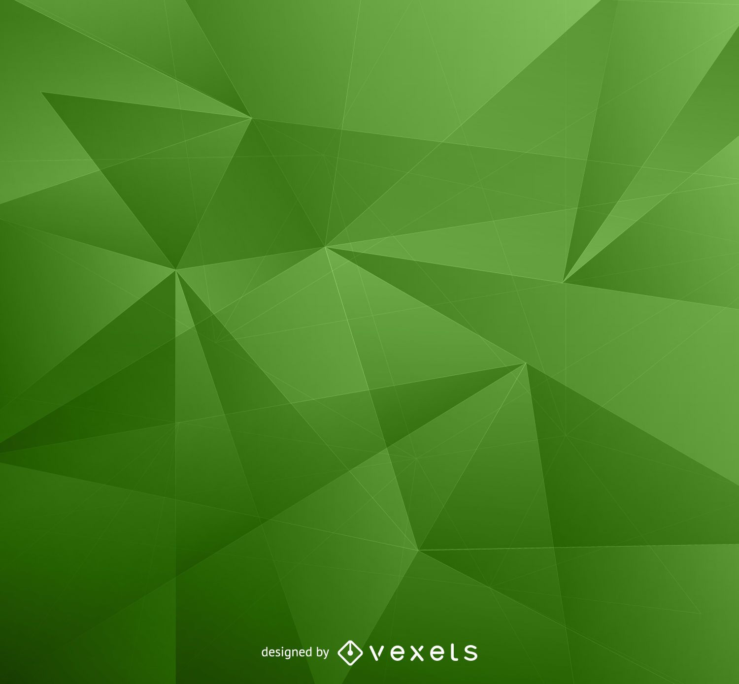 Green Low Poly Background