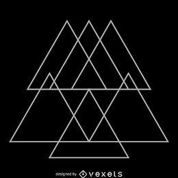 Sobreposições triangulares design de geometria sagrada