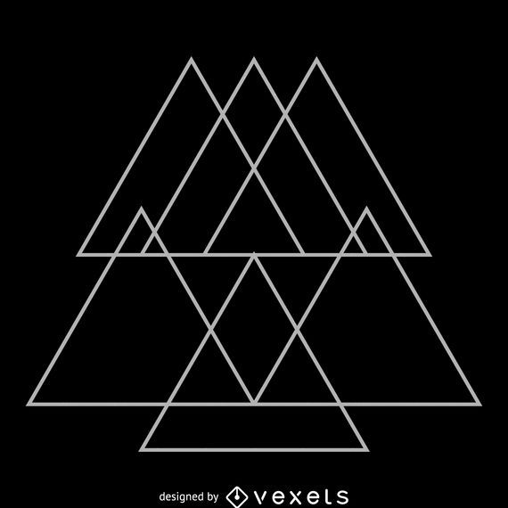 Triangular overlays sacred geometry design