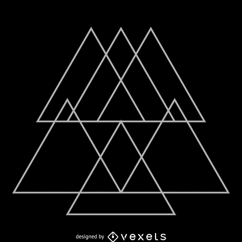 triangular overlays sacred geometry design vector download