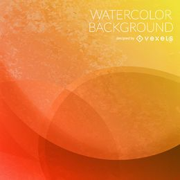 Orange circles watercolor background