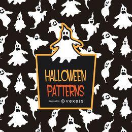 Padrão de fantasma de Halloween assustador